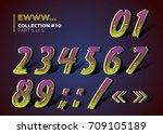 halloween dead man's party. 3d... | Shutterstock .eps vector #709105189