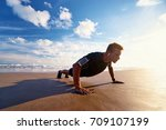 sports and healthy lifestyle.... | Shutterstock . vector #709107199