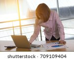 businessman checking graph with ... | Shutterstock . vector #709109404