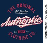 the original authentic clothing ... | Shutterstock .eps vector #709109926