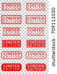 various style of rubber stamp... | Shutterstock .eps vector #709111030