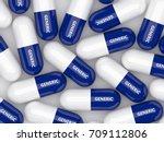 3d render of generic drug pills ...   Shutterstock . vector #709112806