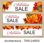 abstract  illustration autumn... | Shutterstock . vector #709114003