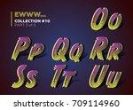 3d spooky typeset for halloween ... | Shutterstock .eps vector #709114960