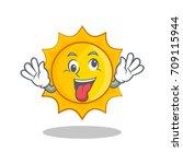 crazy cute sun character cartoon | Shutterstock .eps vector #709115944
