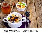 thanksgiving day breakfast.... | Shutterstock . vector #709116826