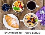 thanksgiving day breakfast.... | Shutterstock . vector #709116829