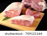 sirloin and tenderloin wagyu...   Shutterstock . vector #709121164