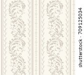 seamless damask pattern with... | Shutterstock .eps vector #709125034