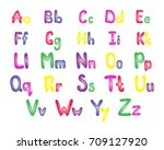 colorful english alphabet ... | Shutterstock .eps vector #709127920