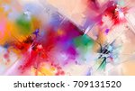abstract colorful oil painting... | Shutterstock . vector #709131520