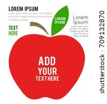 apple sign icon. vector... | Shutterstock .eps vector #709132870