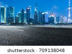 empty downtown street... | Shutterstock . vector #709138048