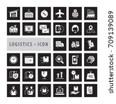 transportation icons set  ... | Shutterstock .eps vector #709139089