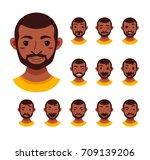 american african men facial... | Shutterstock . vector #709139206