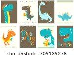 set of birthday banner ... | Shutterstock .eps vector #709139278