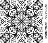 oriental floral pattern.  ... | Shutterstock . vector #709140220
