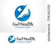 foot health logo template... | Shutterstock .eps vector #709141333