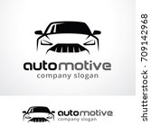 automotive logo template design ... | Shutterstock .eps vector #709142968