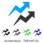 trends arrows vector pictograph.... | Shutterstock .eps vector #709145710
