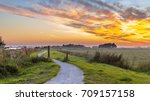 winding cycling track through... | Shutterstock . vector #709157158