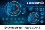 futuristic blue virtual graphic ... | Shutterstock .eps vector #709166446