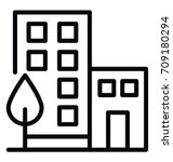 Office Building Vector Icon | Shutterstock vector #709180294