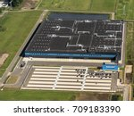Small photo of 21 July 2017, Waalwijk, The Netherlands. Aerial view of the new distribution center of Bol.com. A Dutch online shop, part of Ahold Delhaize.