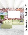 vertical modern interior... | Shutterstock . vector #709184233