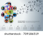 idea concept for business... | Shutterstock .eps vector #709186519