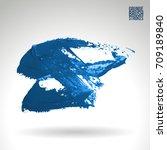 blue brush stroke and texture.... | Shutterstock .eps vector #709189840