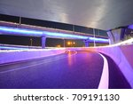empty road floor with city... | Shutterstock . vector #709191130