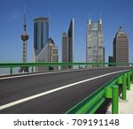 empty road surface with... | Shutterstock . vector #709191148