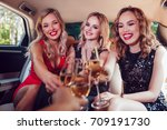 pretty women having party in a... | Shutterstock . vector #709191730