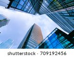 london office building... | Shutterstock . vector #709192456