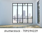 modern unfurnished interior... | Shutterstock . vector #709194229