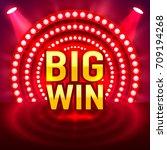 big win casino signboard  game... | Shutterstock .eps vector #709194268