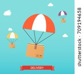 delivery concept service.... | Shutterstock .eps vector #709194658