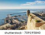 view from santa barbara castle...   Shutterstock . vector #709195840