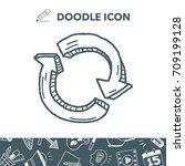 reload doodle   Shutterstock .eps vector #709199128