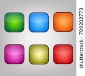 abstract set of green  blue ...   Shutterstock .eps vector #709202773