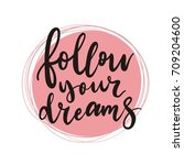 cute print with lettering.... | Shutterstock .eps vector #709204600