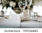 wedding table seating  | Shutterstock . vector #709206883