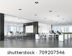 two conference rooms with glass ... | Shutterstock . vector #709207546