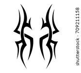 tribal tattoo art designs.... | Shutterstock .eps vector #709211158