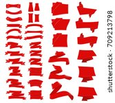 collection of red colored empty ...   Shutterstock .eps vector #709213798