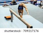 Woman Gymnast Acrobatic Skill...