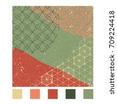 japanese pattern vector with...   Shutterstock .eps vector #709224418