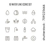 water icon set. collection of... | Shutterstock .eps vector #709225666
