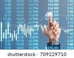 businessman plan graph growth... | Shutterstock . vector #709229710